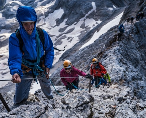Climbing Triglav in 1 day IFMGA guide with guests