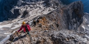Climbing Triglav in 1 day ridge climb, Slovenian mountains