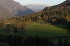 Mojstrana view on mountain Stol