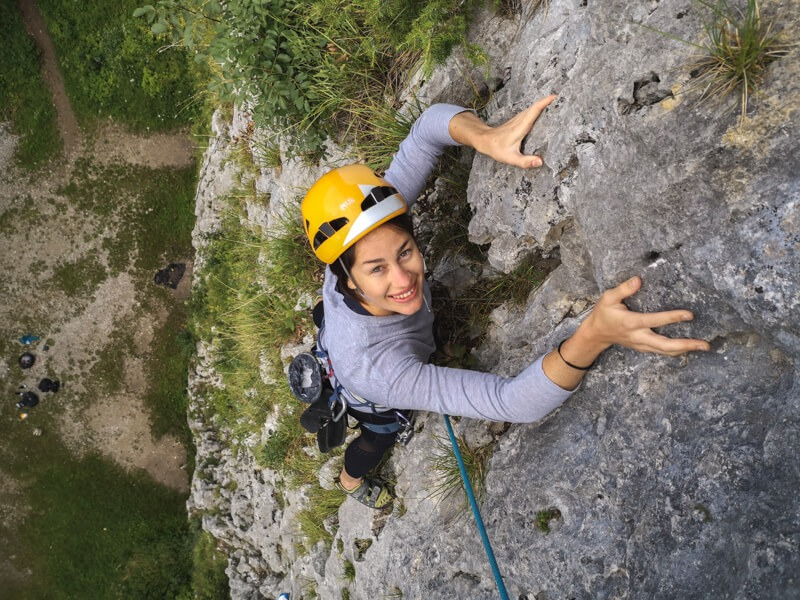 Rock climbing 10 routes near Lake Bled