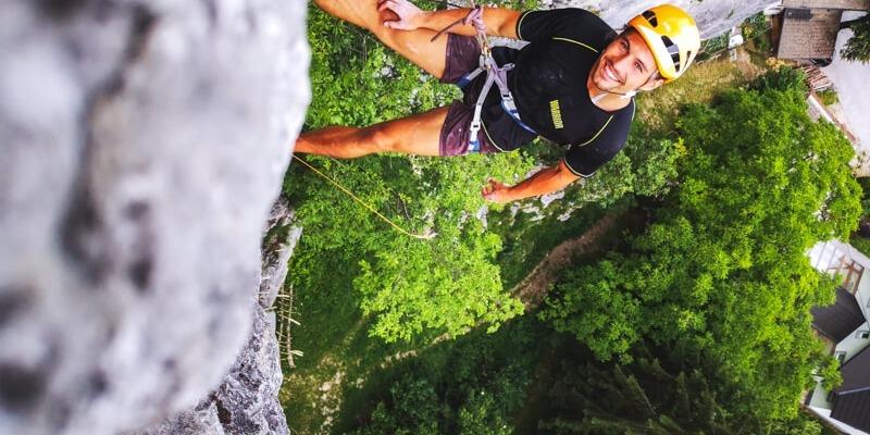 Rock climbing close to Lake Bled