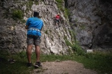 Rock climbing in Bohinjska Bela near Bled