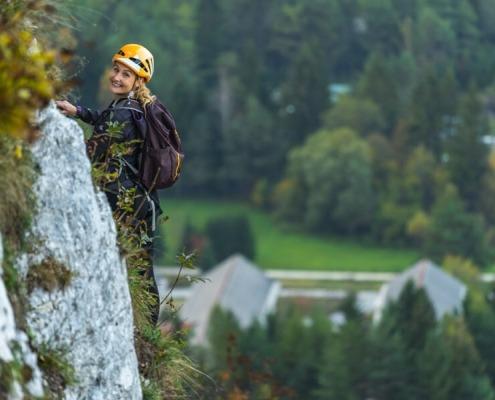 Triglav Fairytale route near Mojstrana in Slovenia