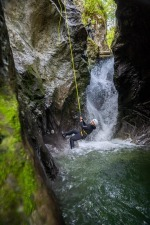 Canyoneer is Rappeling with the Rope