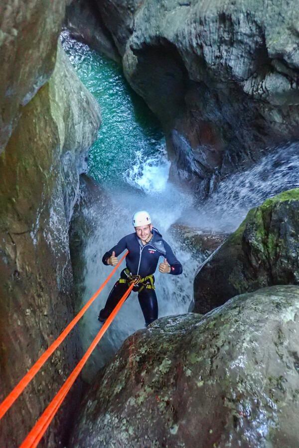 Ultimate canyoning Kozjak waterfall