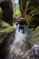 Fun Pool Jump in the Canyon, Slovenia