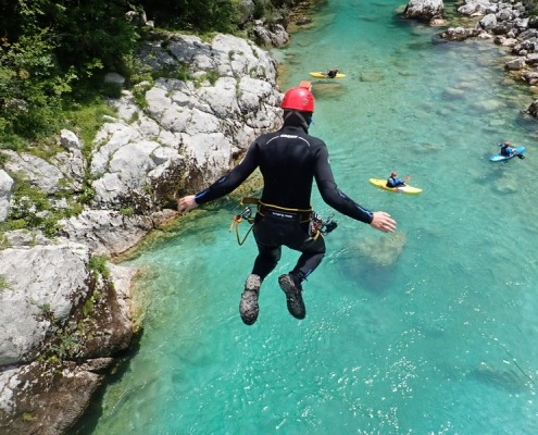 Ultimate canyoning Soča river
