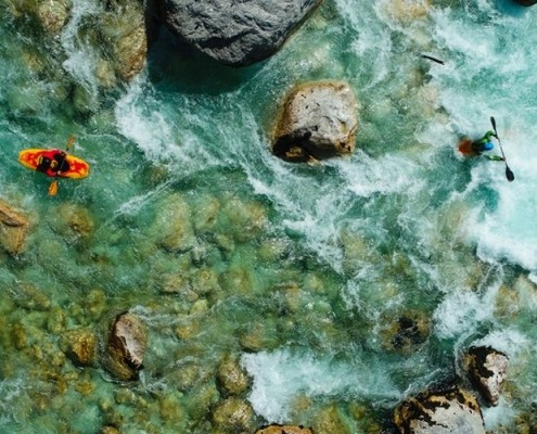 Bovec kayaking on Soča river