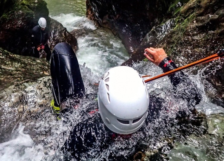 Amazing canyoning near Bled