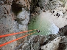 Extreme canyoning fun time near Log Pod Mangartom