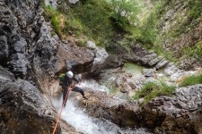 Extreme canyoning in Triglav National Park