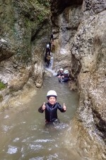 Family canyoning in Jereka canyon