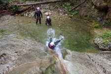 Family canyoning near Bled