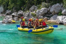 Great Fun on Emerald Soca River doing Rafting Adventure