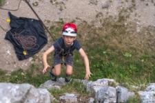 Rock climbing kids Slovenia