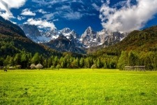stunning view on the Julian Alps