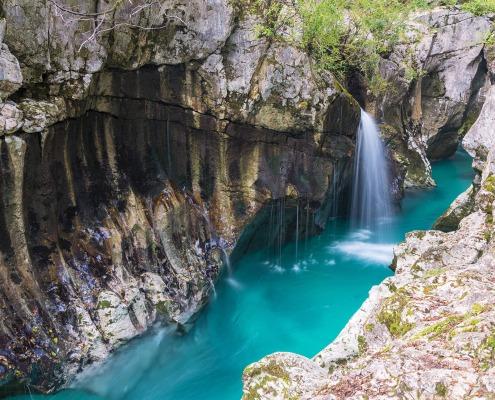 The great Soča gorge in Slovenia