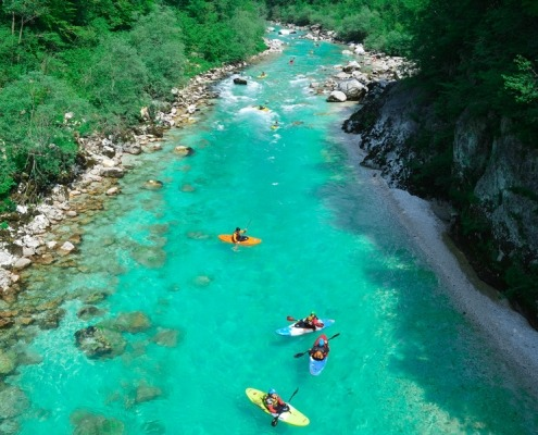 Soča kayaking