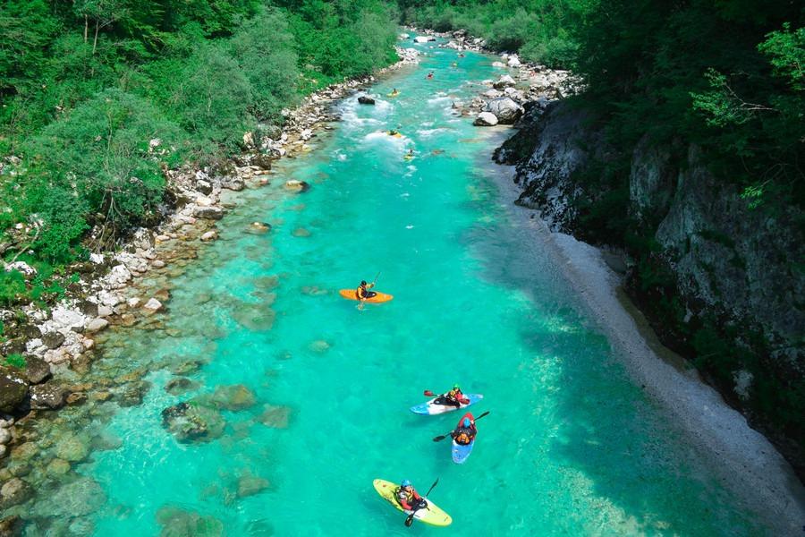 Soča kayaking