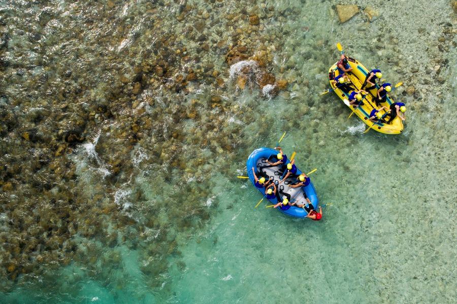 Soca rafting near Bovec