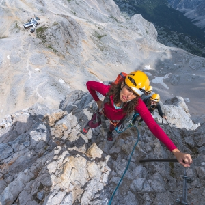 On the way to Triglav, via ferrata climbing before top