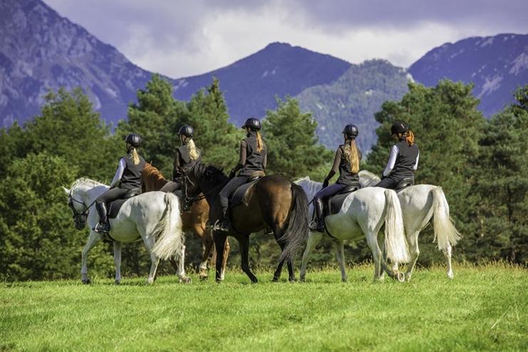 horseback riding in Lake Bled
