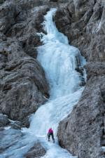 Ice climbing near Kranjska Gora