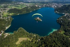 Paraglider Above Gorgeous Lake Bled