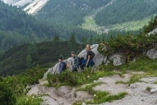 Trekking down to Krma valley from Triglav