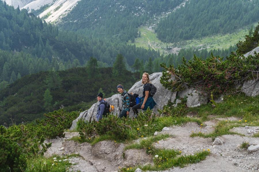 Trekking down to Krma valley from Triglav