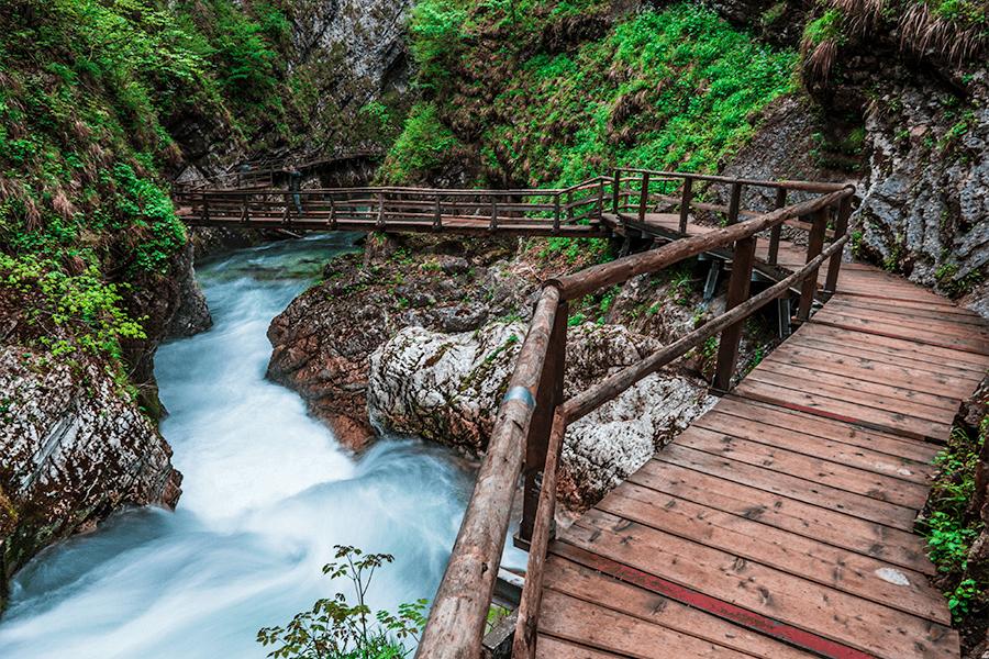 Wooden Bridges in Vintgar Gorge