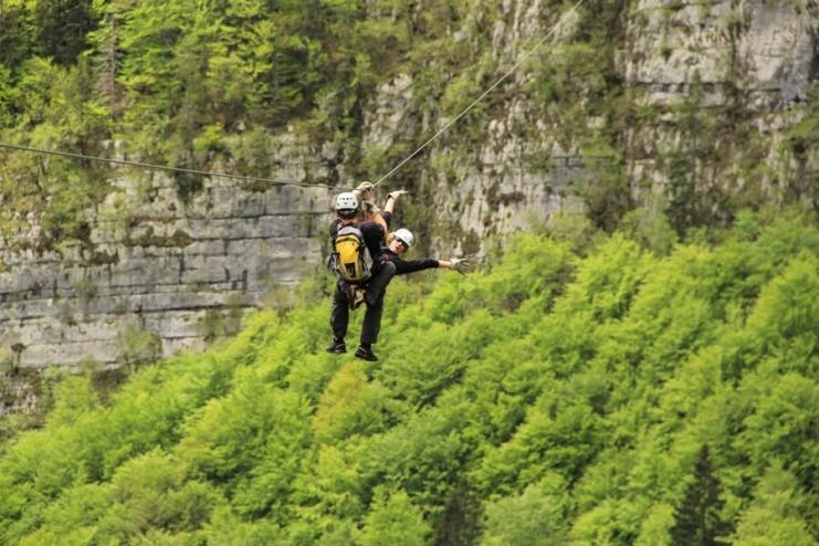 Zipline in Bovec