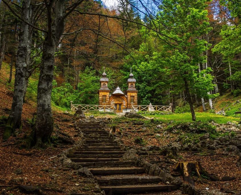 russian chapel at Vrsic