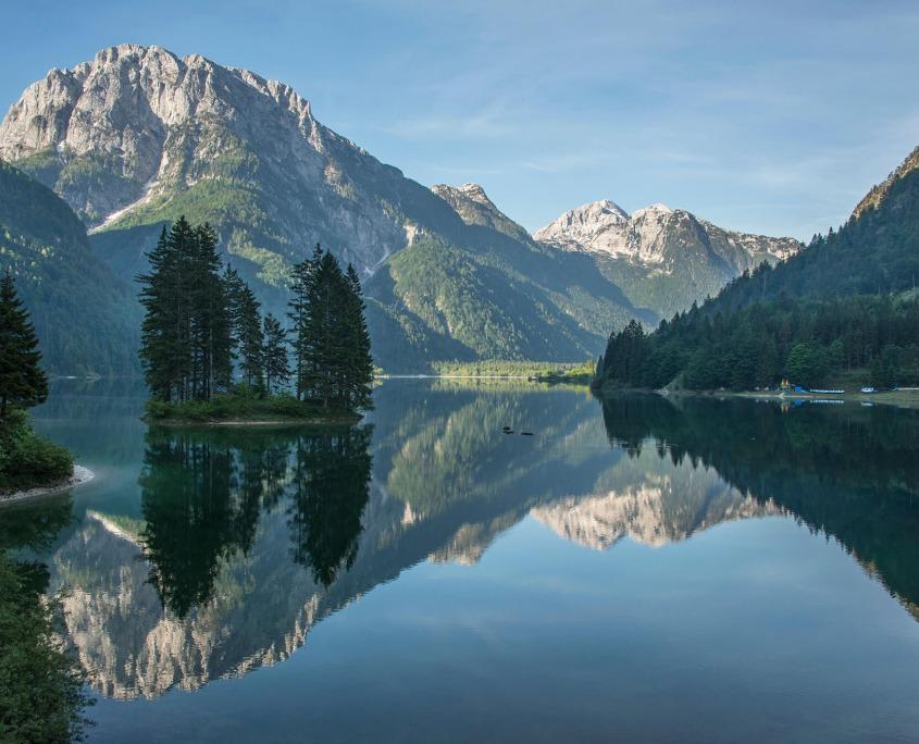 Lake Predil in Italy