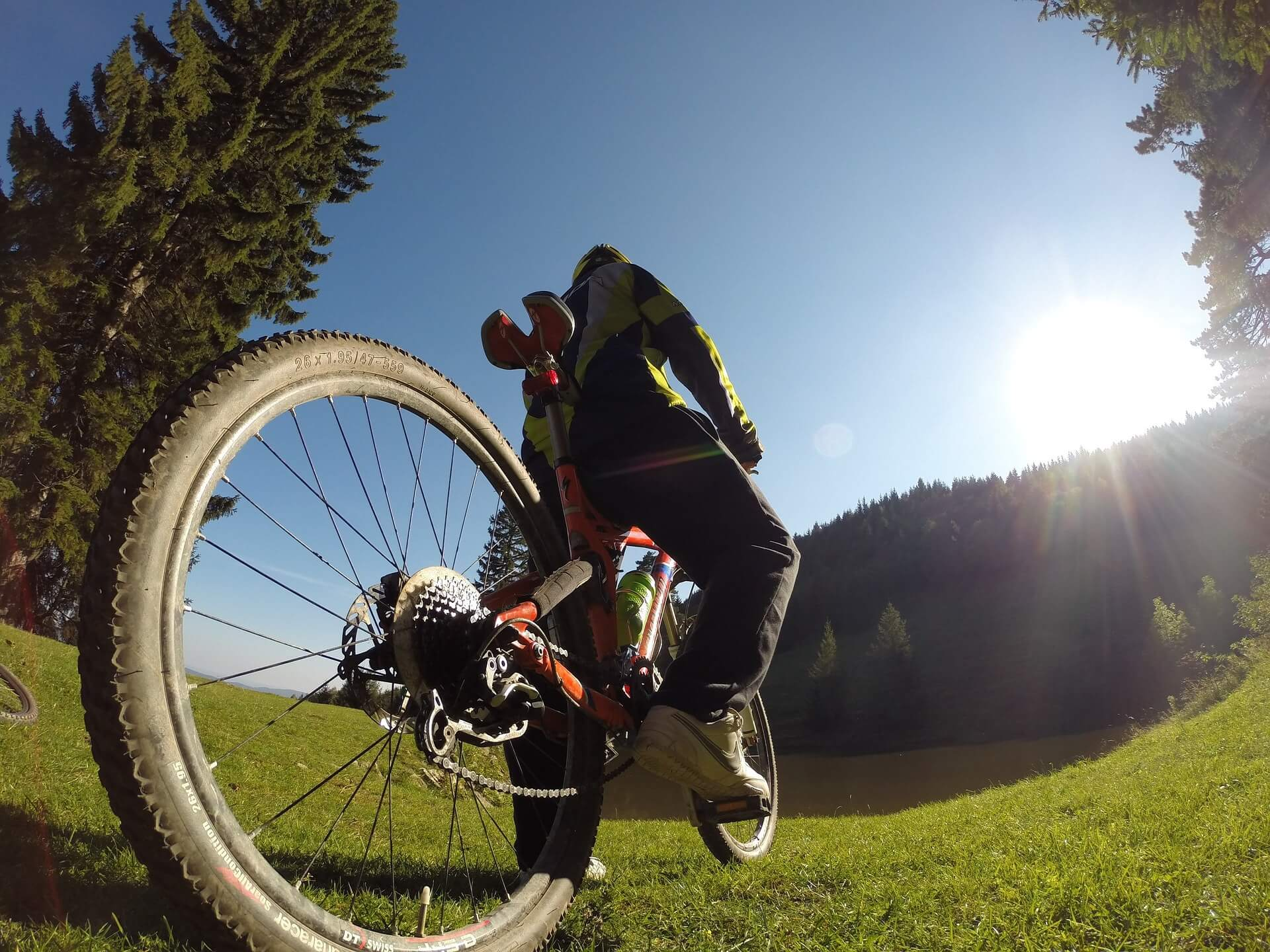 Biking from Bled to Bohinj