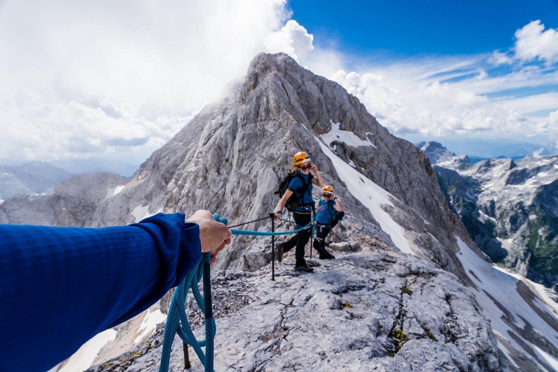 Ridge at very top of mountain Triglav