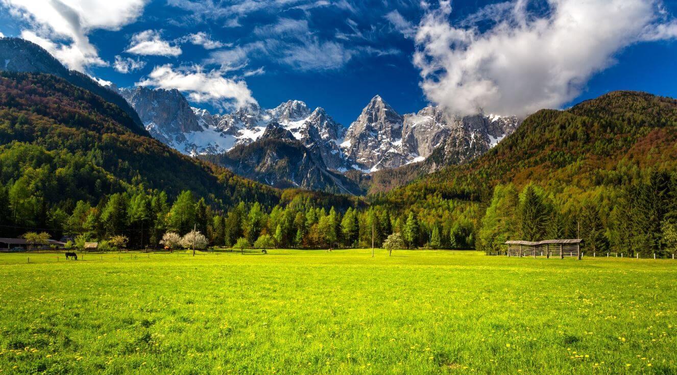 Spik Mountain in Julian Alps
