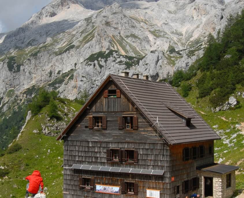 High mountain cottages