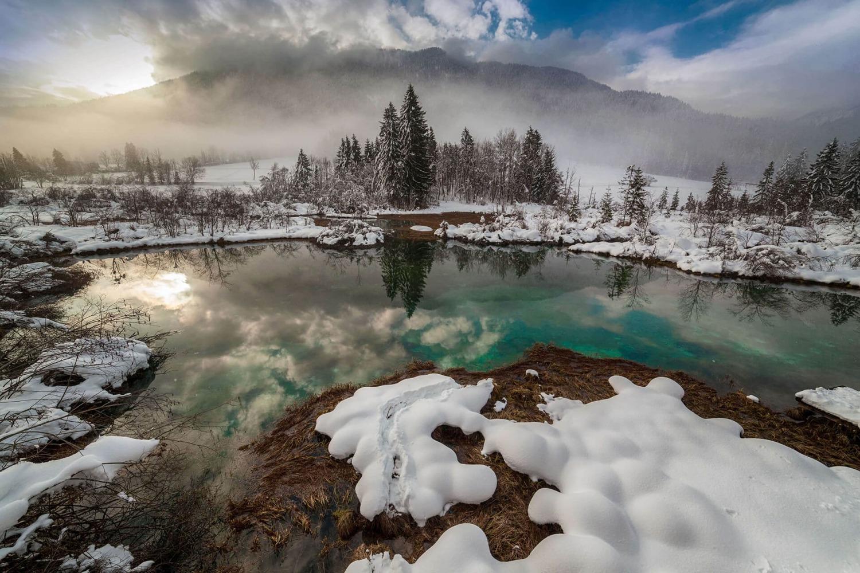 Zelenci in Winter