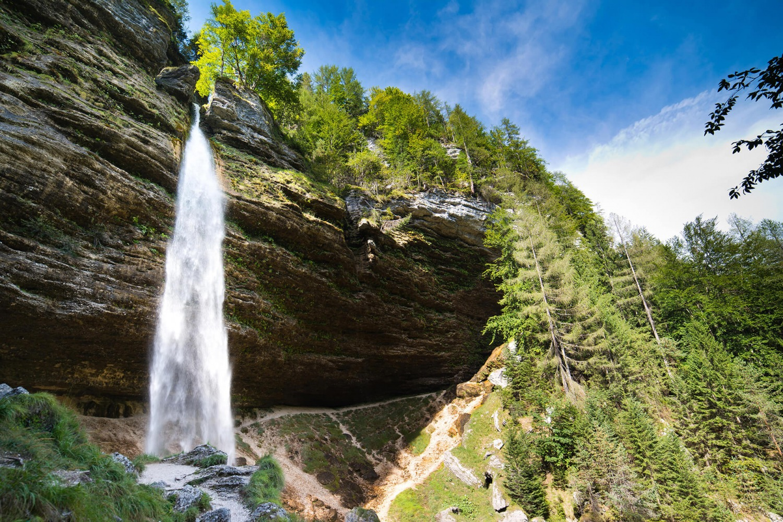 Pericnik waterfall in Julian Alps, Slovenia