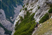 Hiking in Slovenian mountains