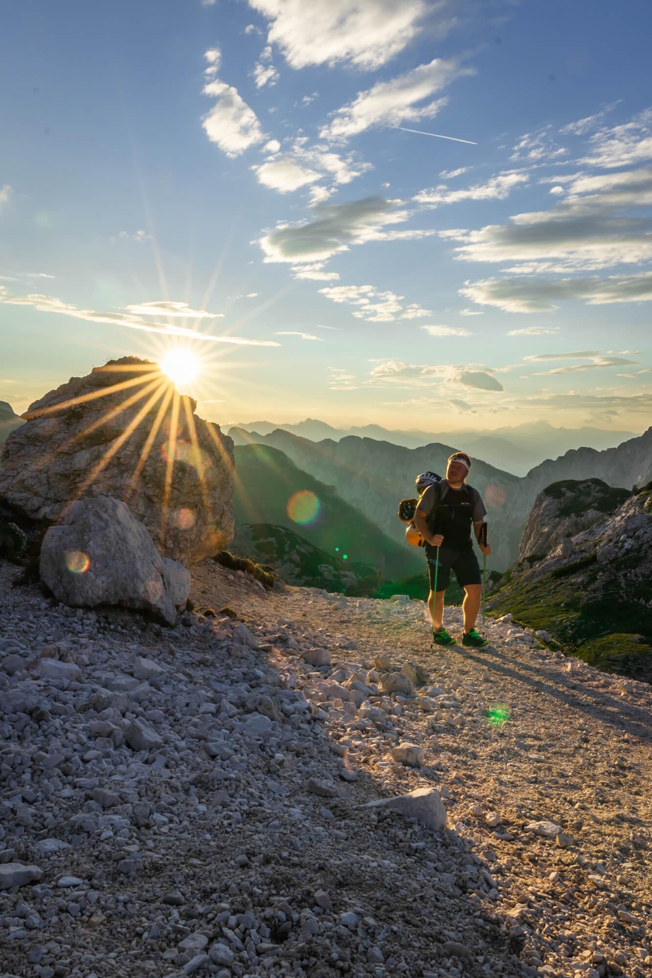 Mountain Guide hiking towards Planika Hut